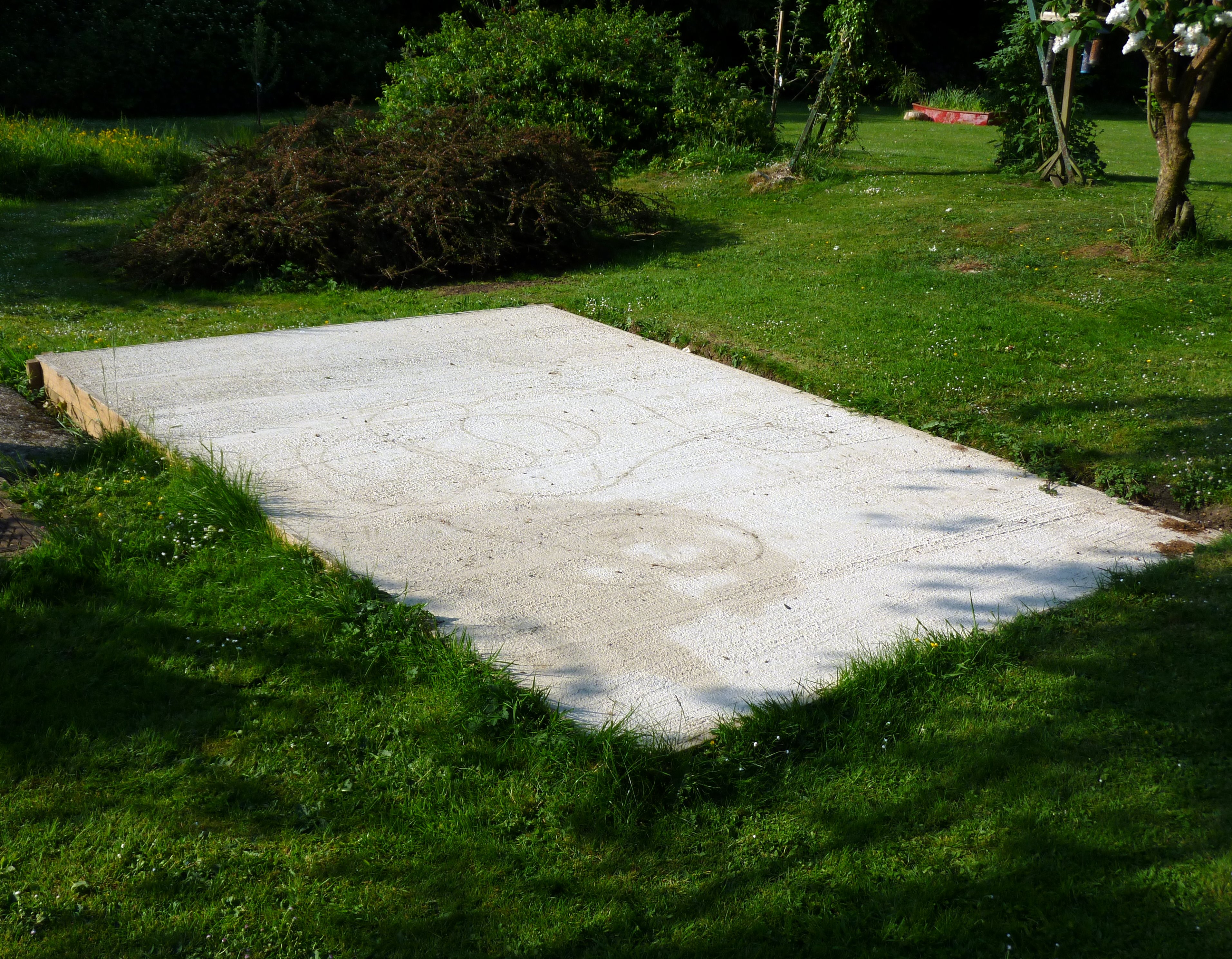 Cedar Greenhouse Base using a Concrete Pad