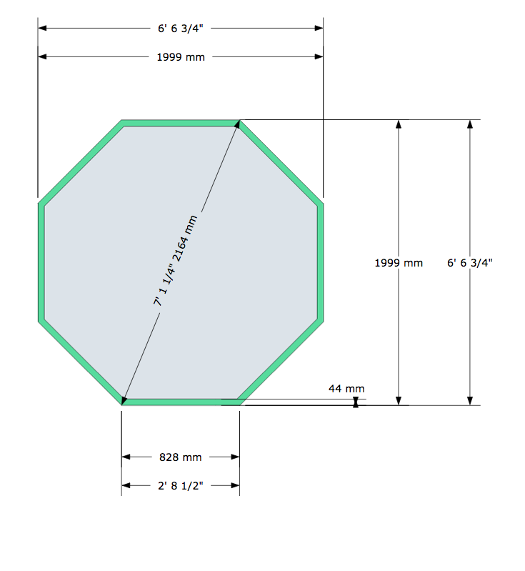 Loxley 6ft6 x 6ft6 woodpecker joinery uk ltd for Octagonal greenhouse plans