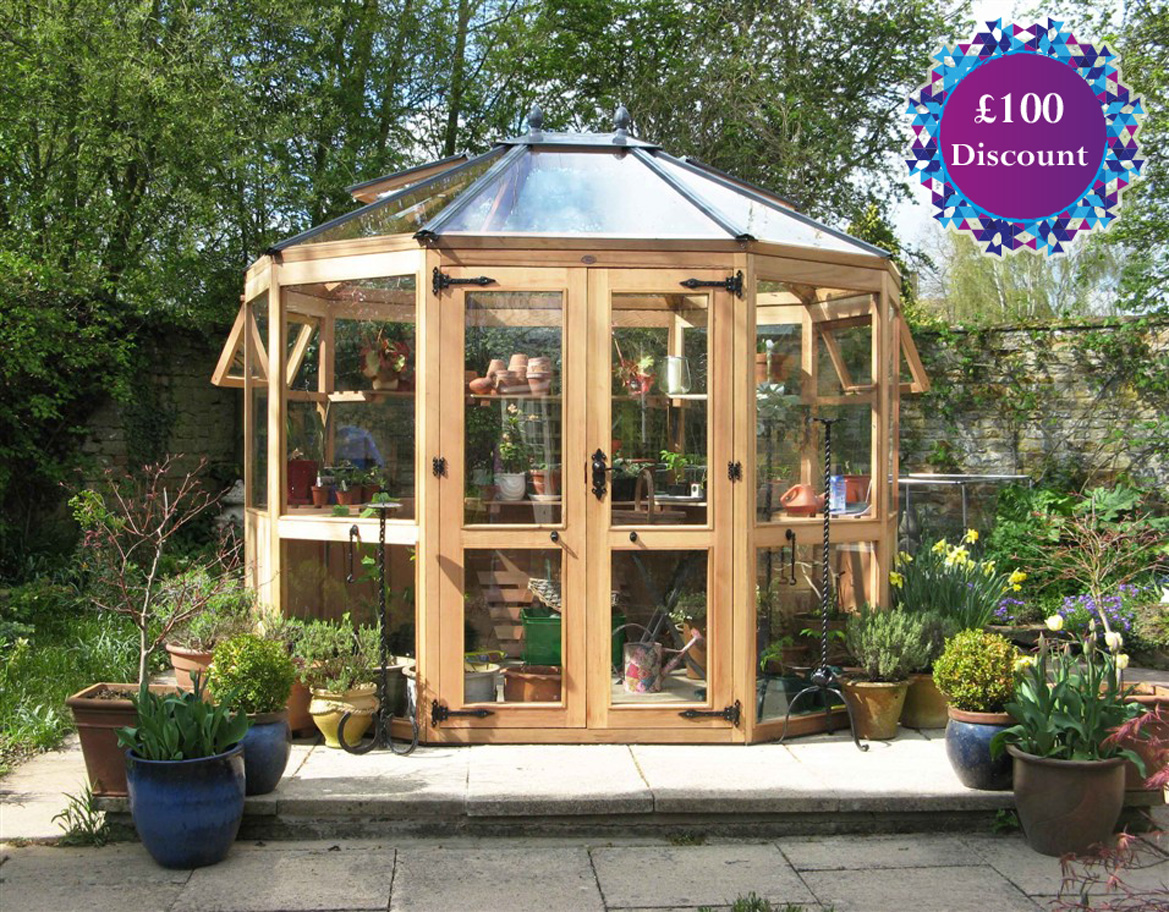 Bramshall Western Red Cedar Greenhouse  6ft4 eaves