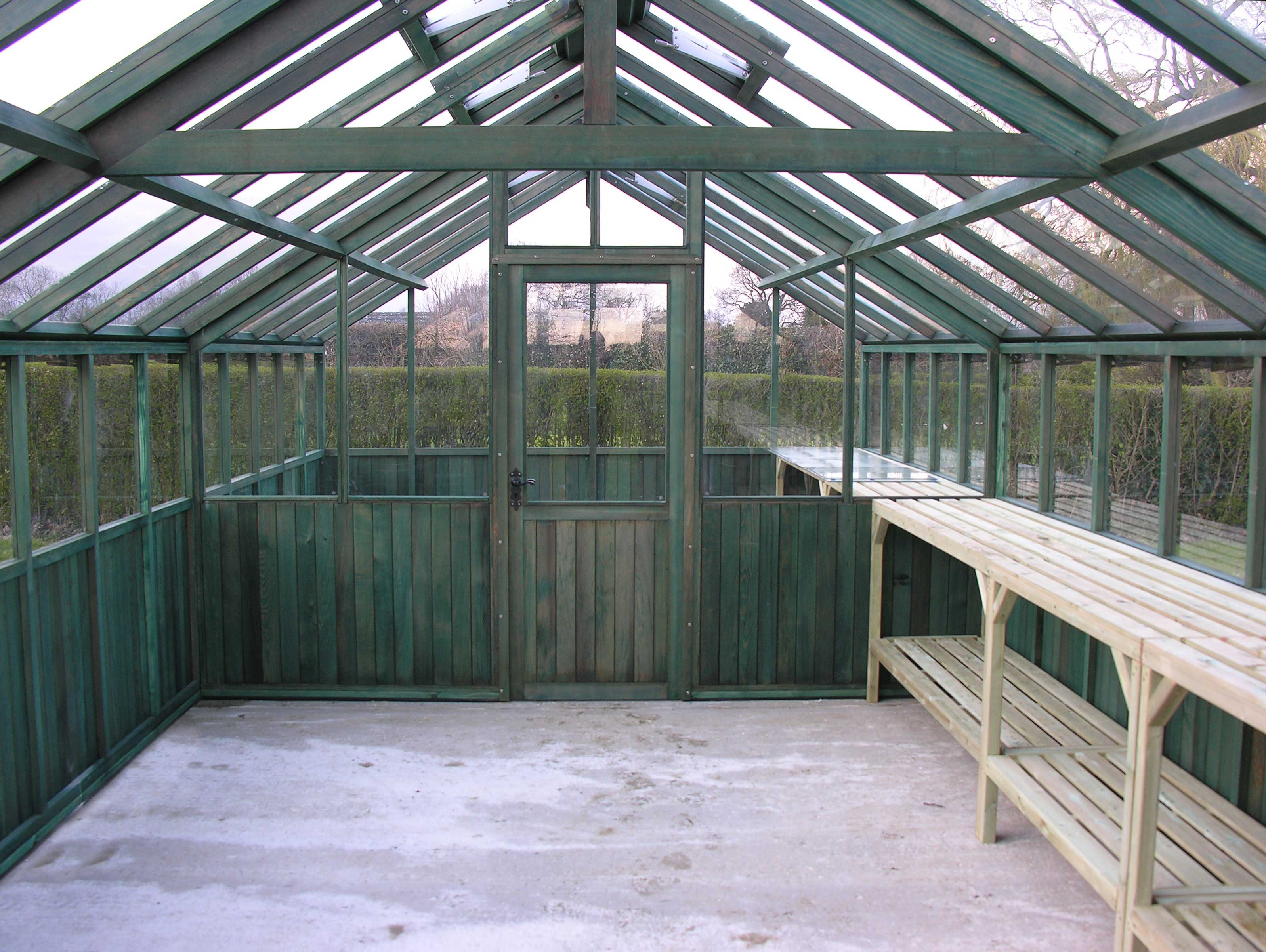 12ft Wide Greenhouse Partition