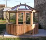 Bramshall Cedar Greenhouse Installed In France