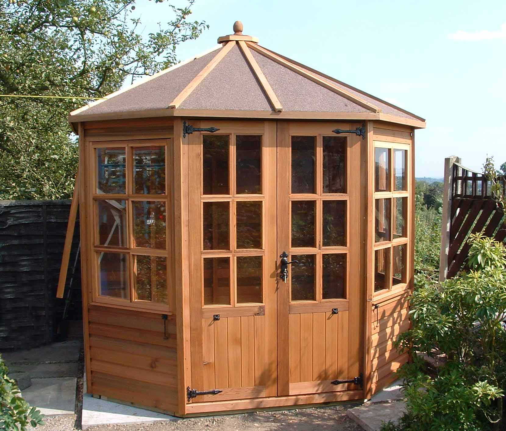 2ft x 6ft x 5ft Cedar Cedar Tall Coldframe Stained Light Brown