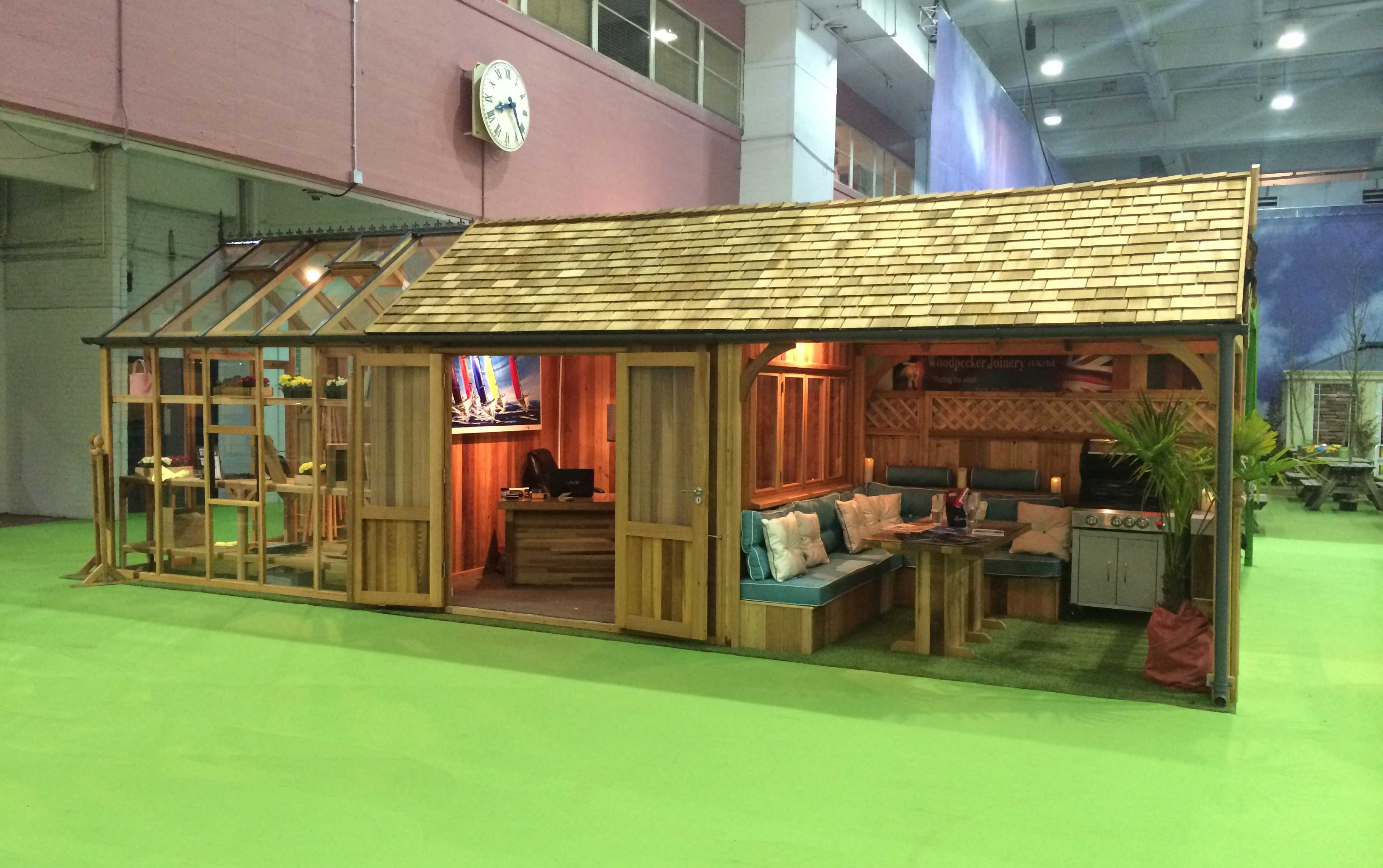 9m X 3m Western Red Cedar Greenhouse Home Office And