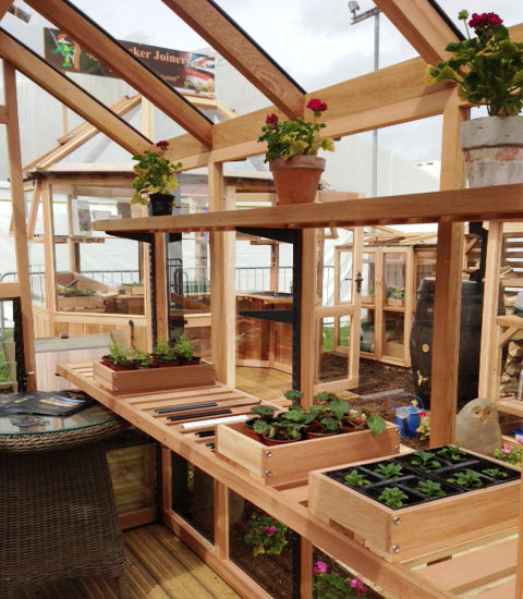 6ft X 8ft Chartley Cedar Greenhouse With Aluminium Capping