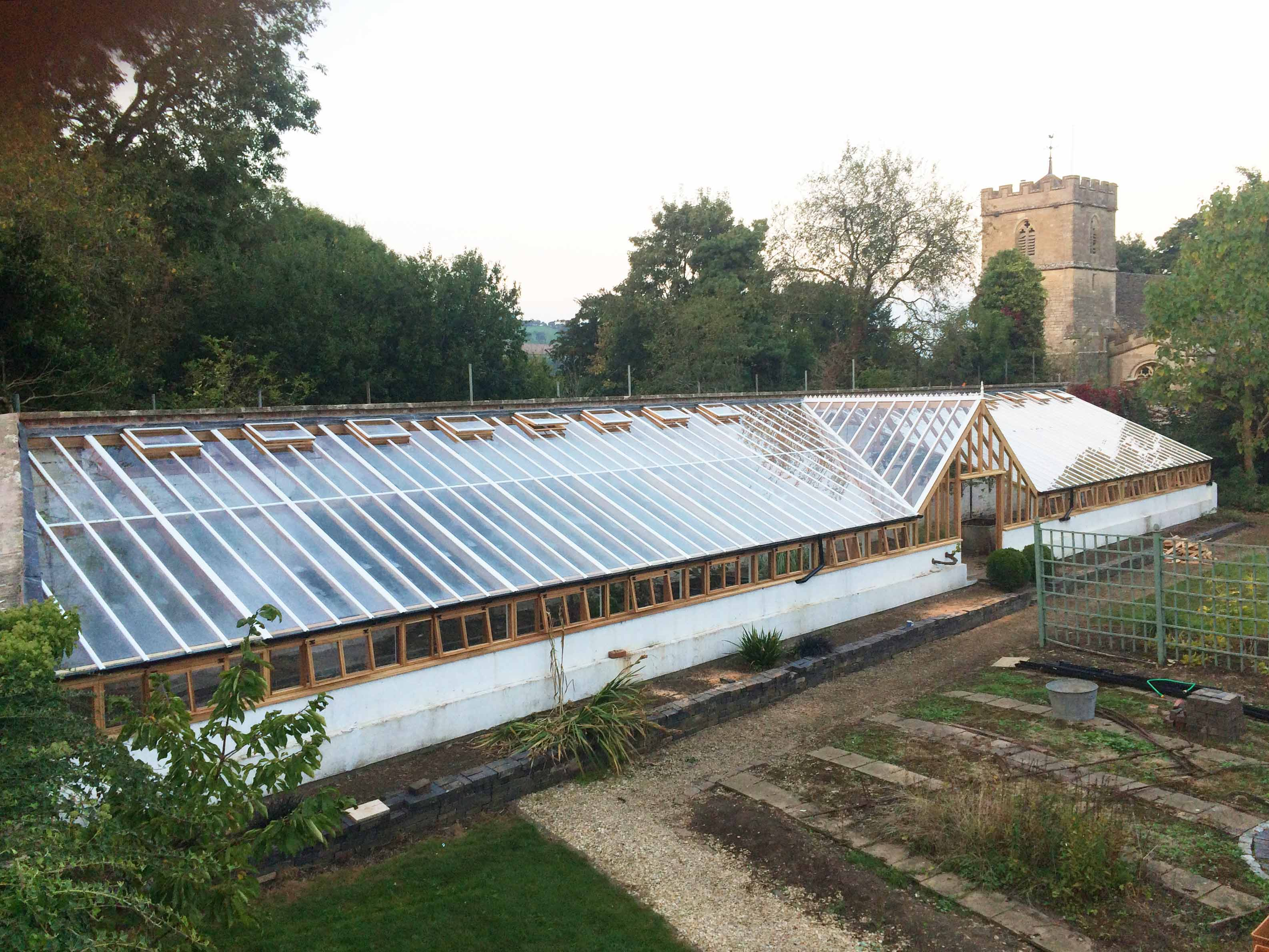 100ft x 15ft timber commercial greenhouse