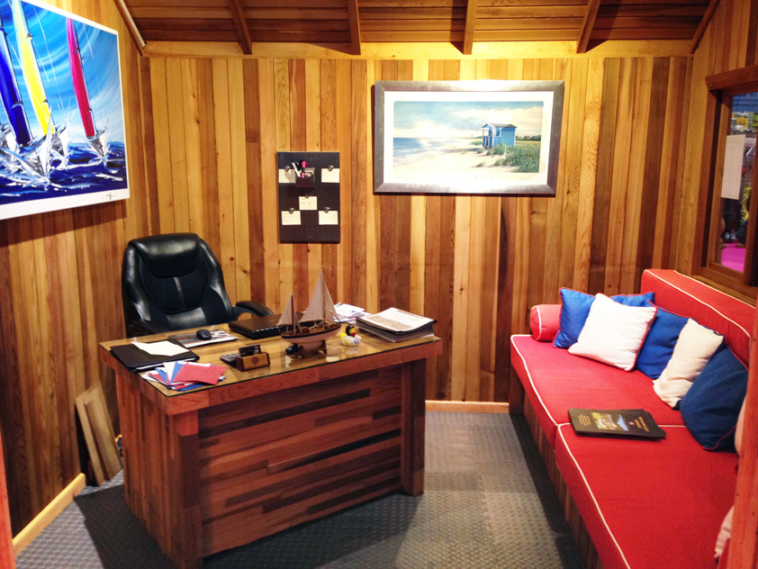 Home Office with Cedar Interior Lining