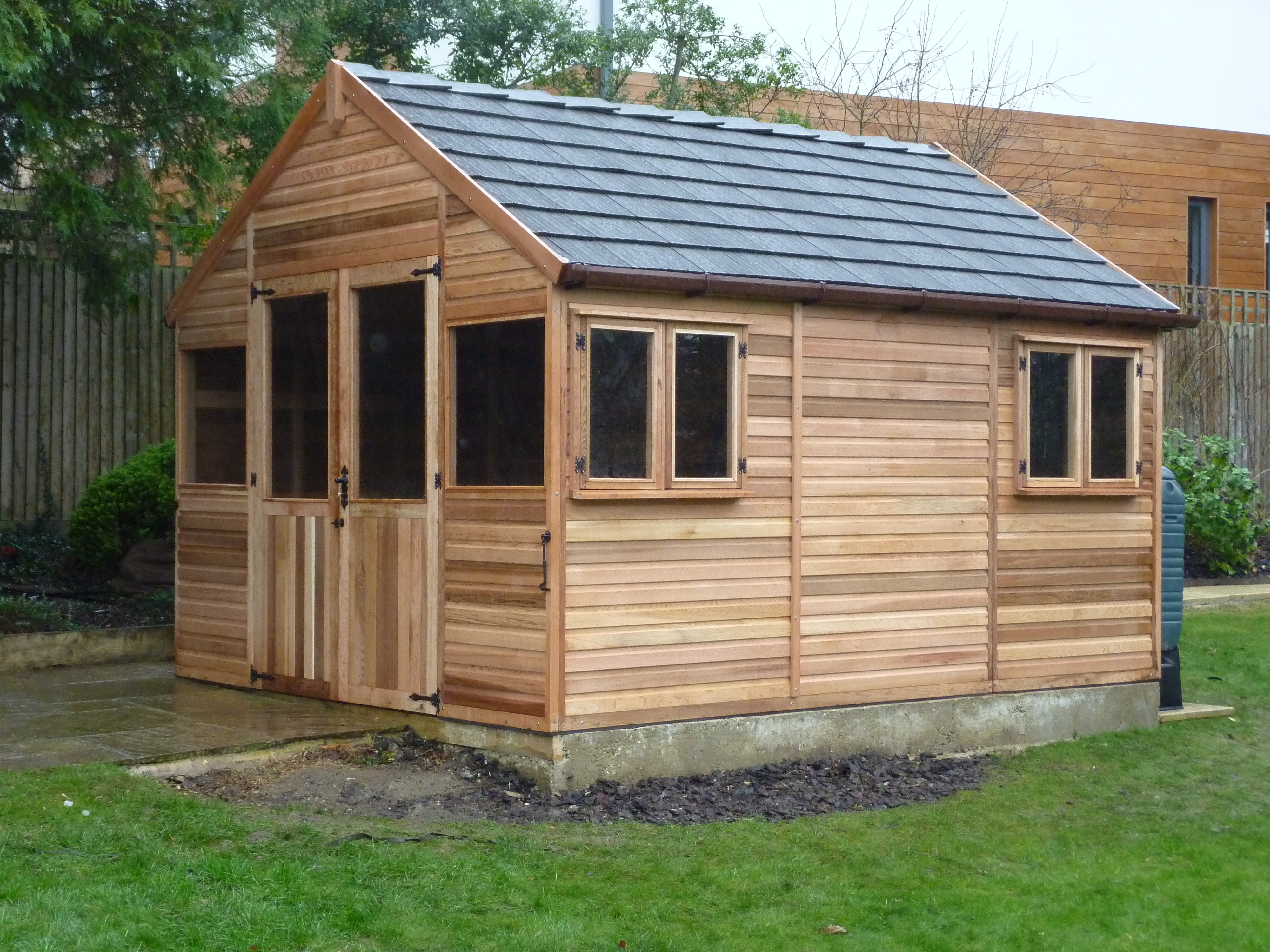 Western Red Cedar Greenhouse with Euro Rubber Roof