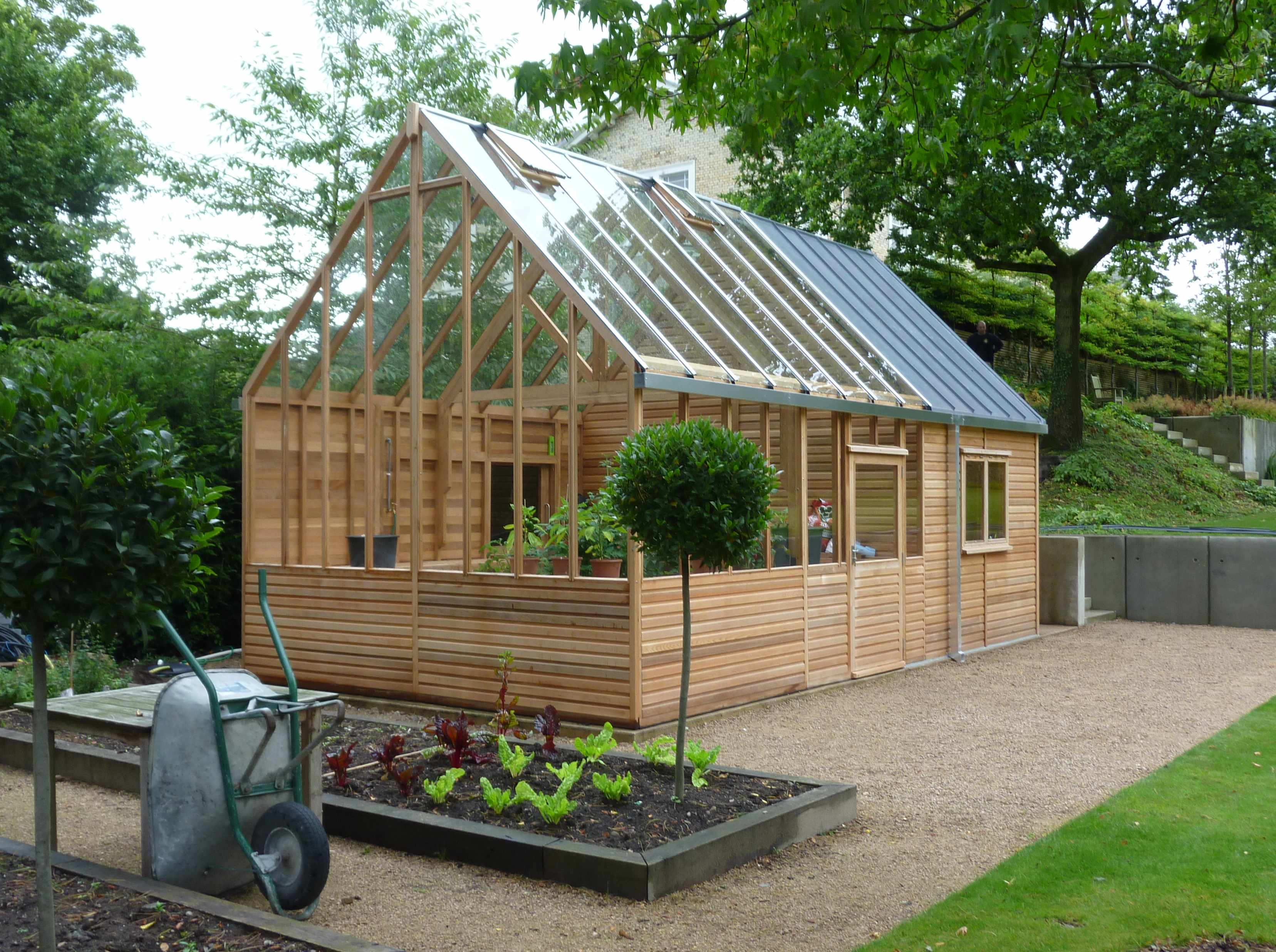15ft x 24ft kings bromley greenhouse with home office extension was