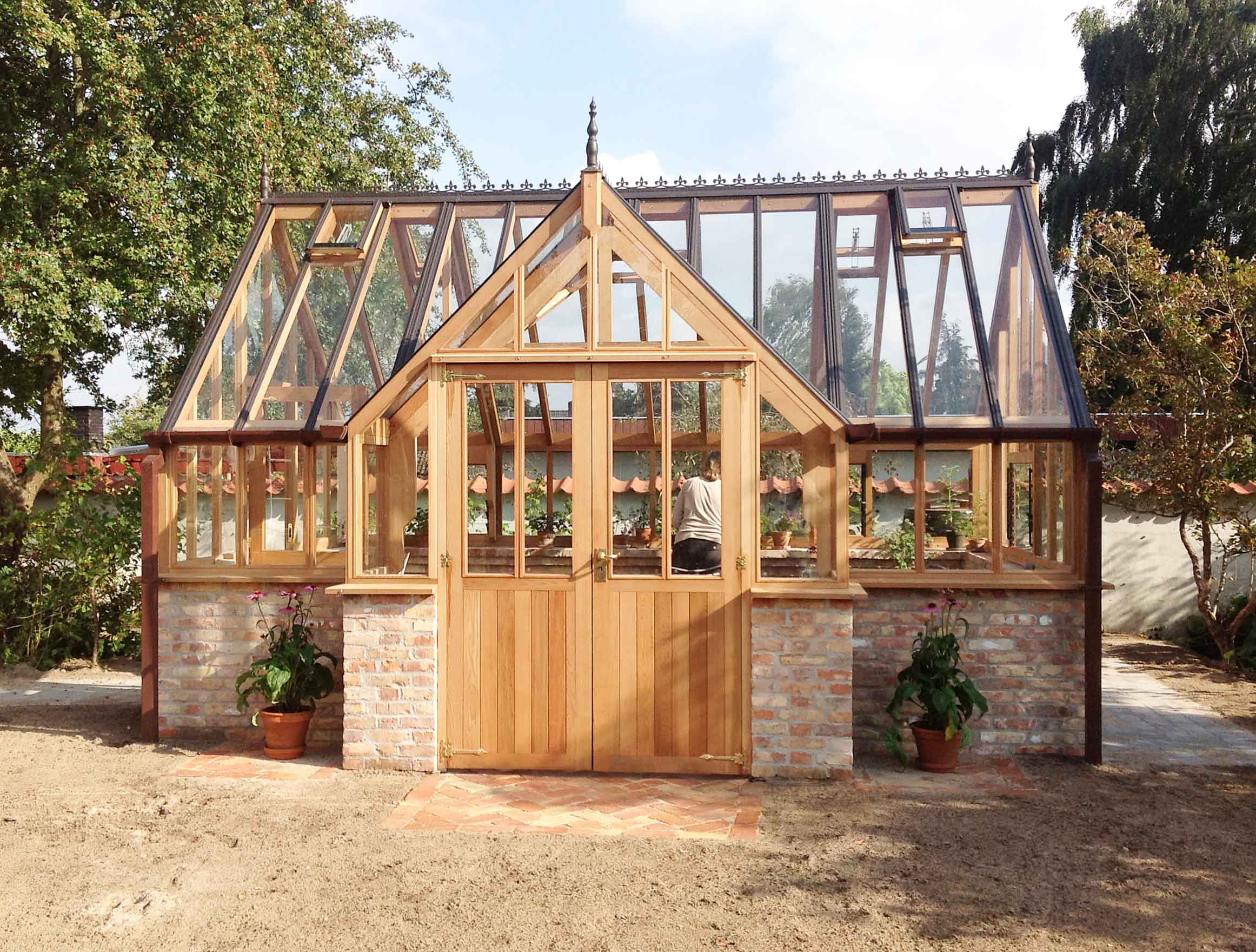 Western Red Cedar Greenhouse with Porch