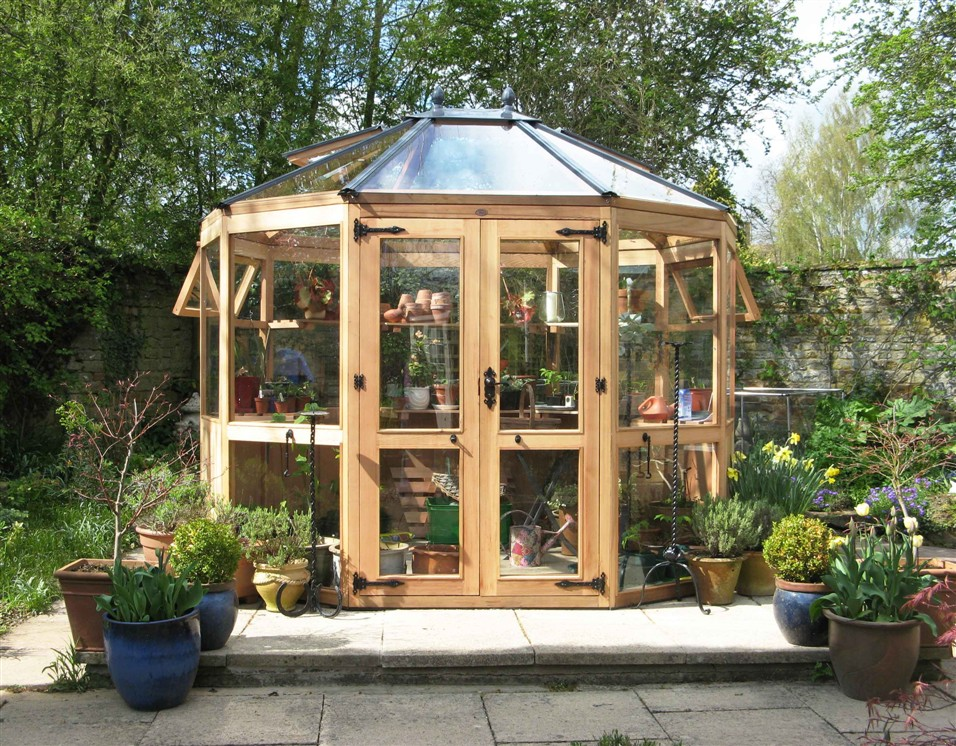 Western Red Cedar Greenhouse