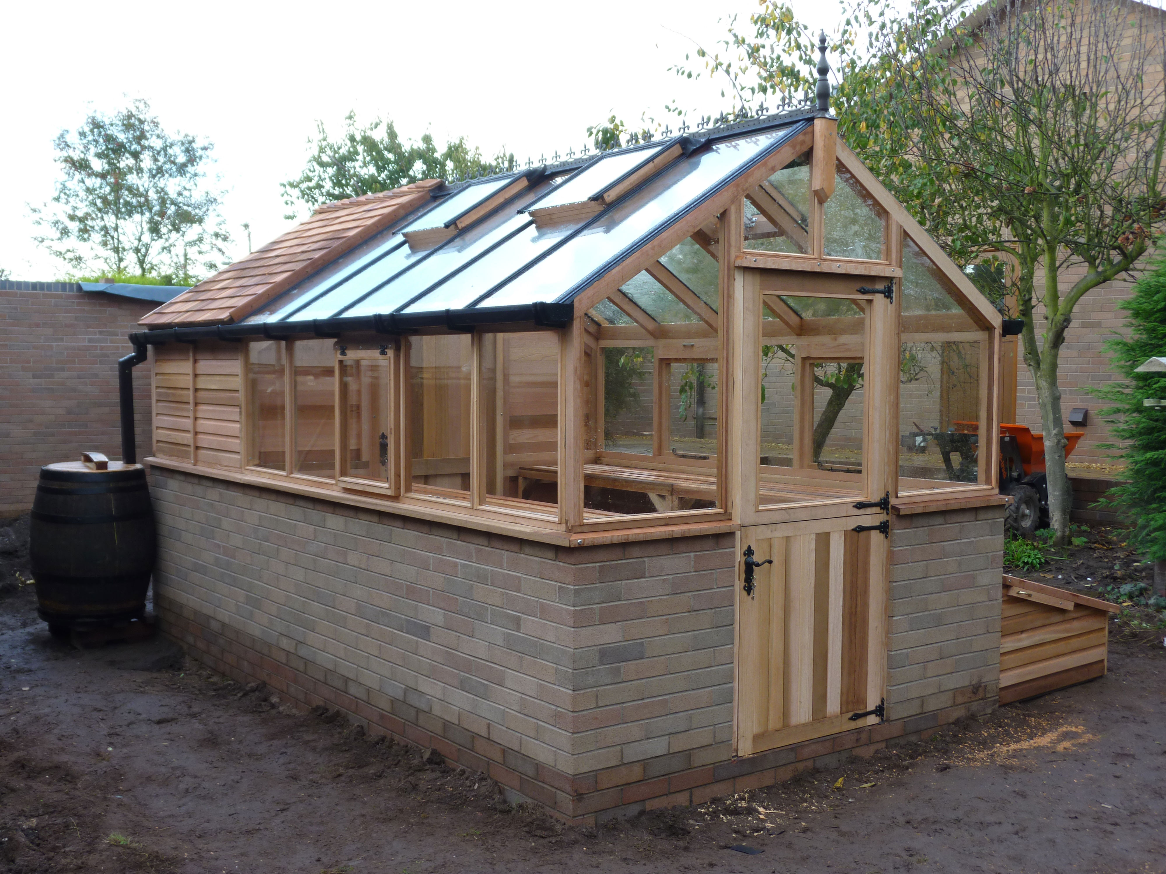 cedar shingle roof sheds