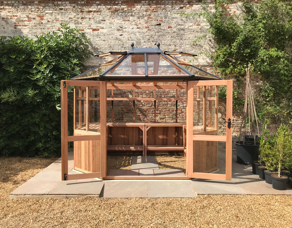 10x8 Wooden Greenhouse with double doors