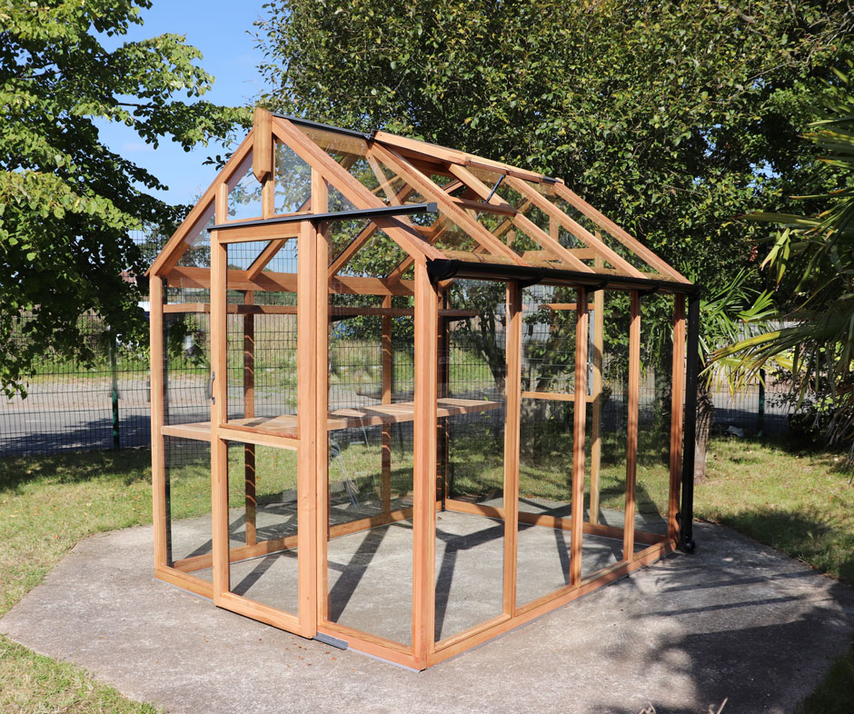 6ft x 8ft seedarhouse greenhouse