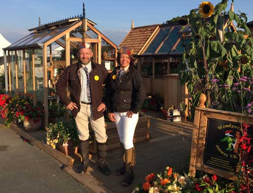 Chris and Louise at a flower show