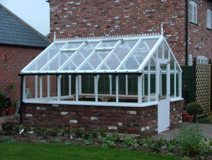 Timber greenhouse made by UK greenhouse manufacturer 12ft X 10ft-£3750