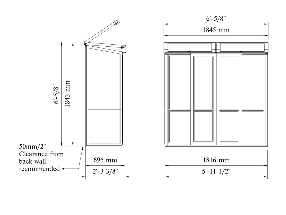 Tall Coldframe with Local Delivery