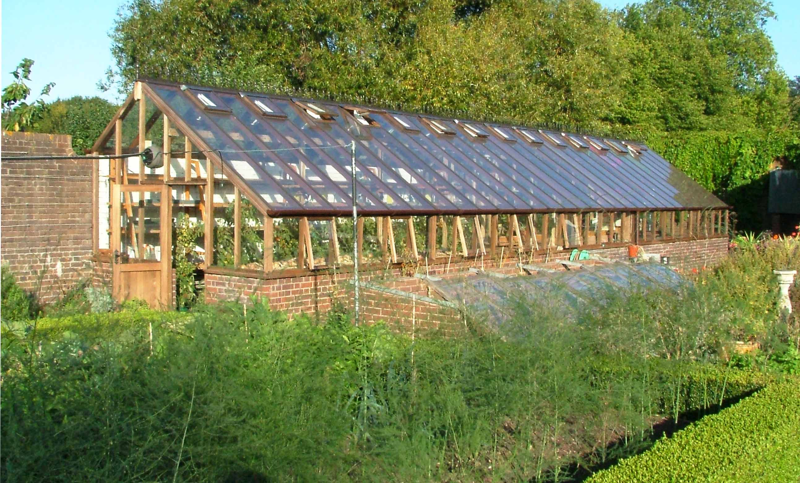 Cedar Timber Three Quater Span Greenhouse Installed By Woodpecker