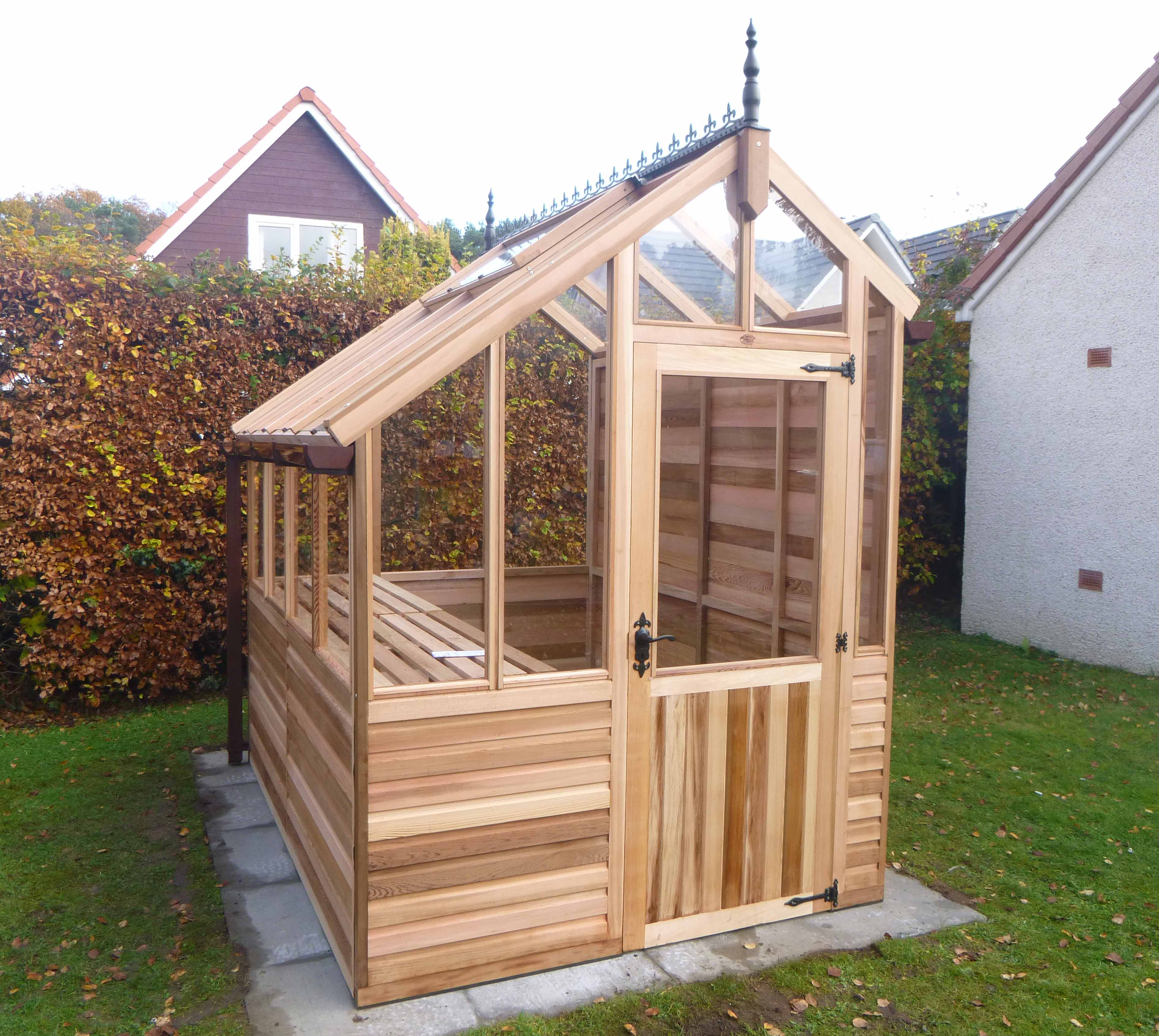 Free Standing Three Quater Span Greenhouse