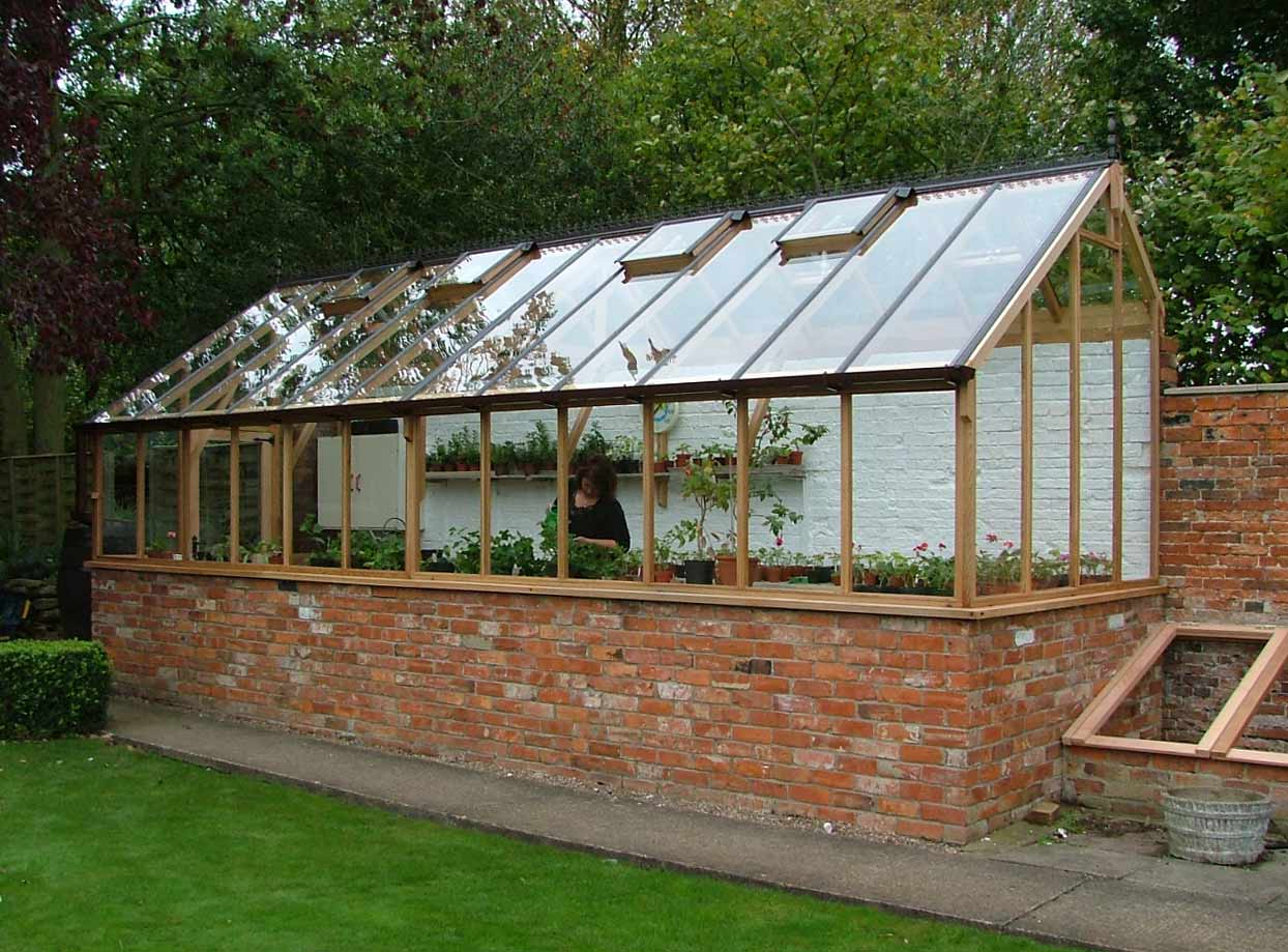 New Western Red Cedar Three Quater Span Greenhouse