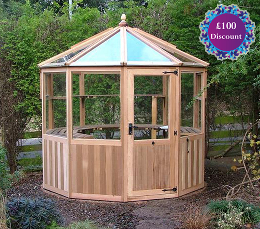 Dagdale Western Red Cedar Greenhouse  6ft4 eaves