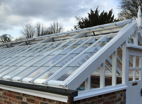 Heritage Glass House Roof Multiple Panes