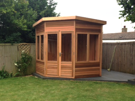 Timber Home Office for Garden