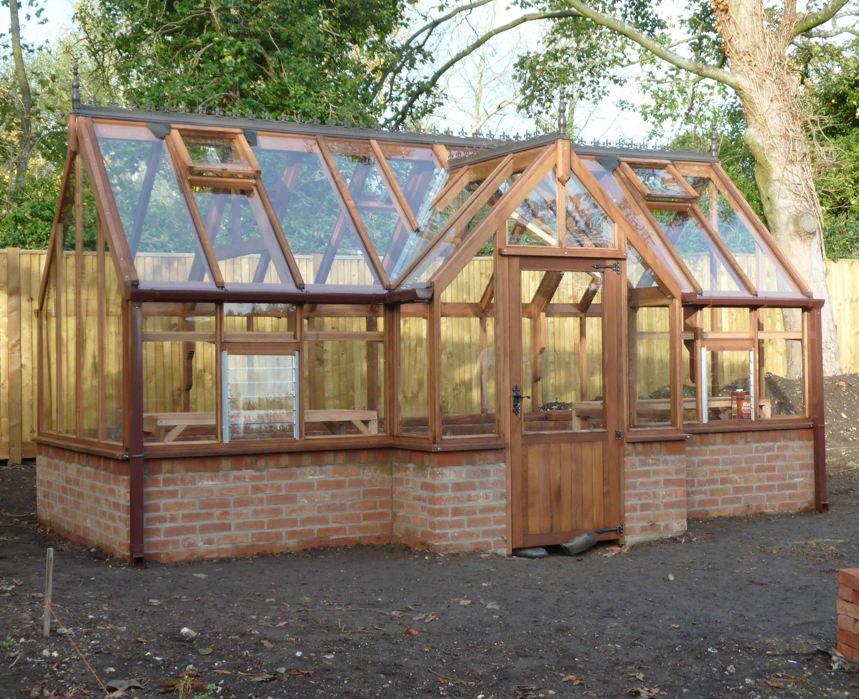 Kings bromley woodpecker joinery uk ltd for Inexpensive greenhouse shelving wood