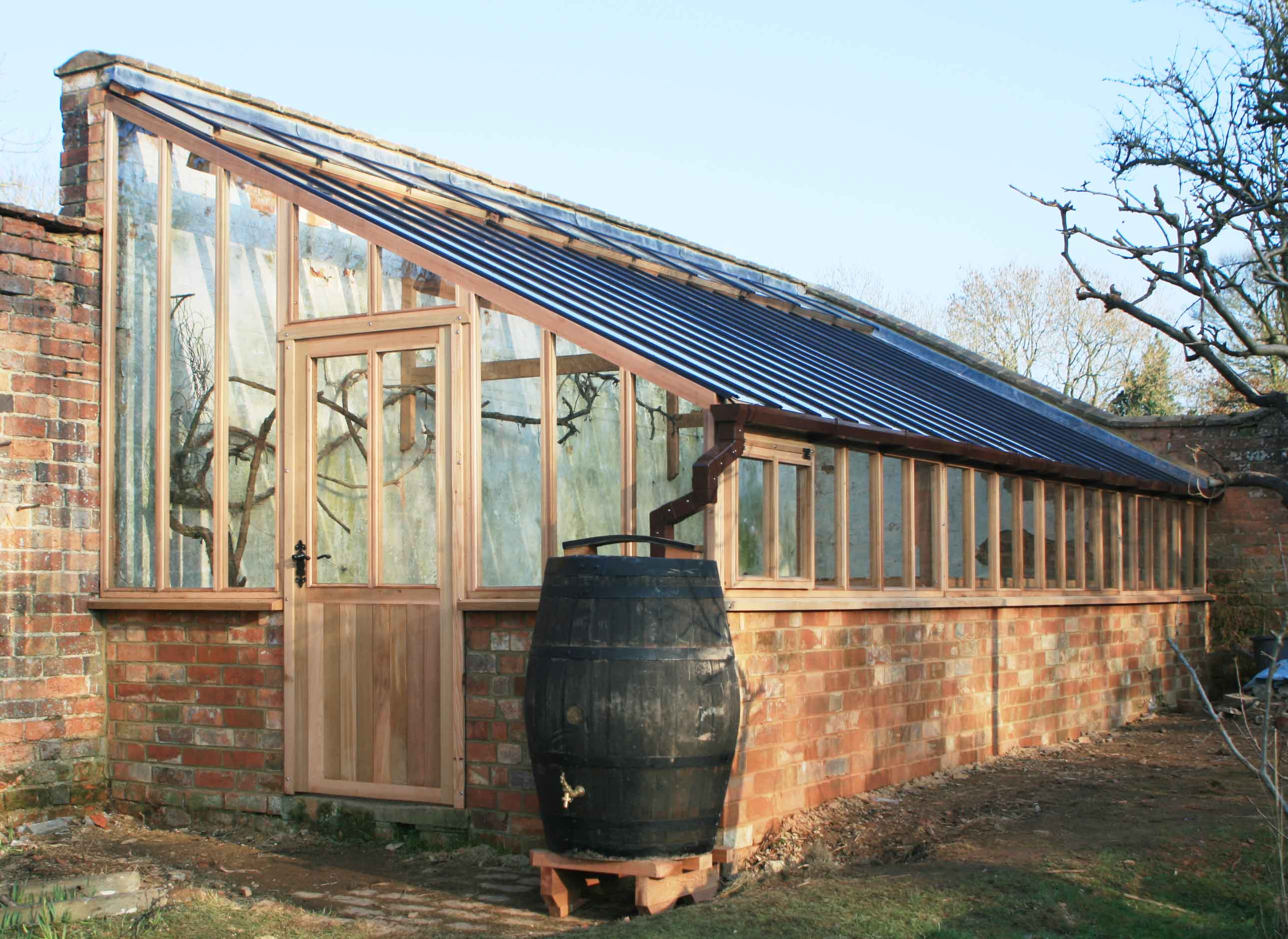 12ft x 24ft bespoke lean to greenhouse with maintenance for Lean to house designs