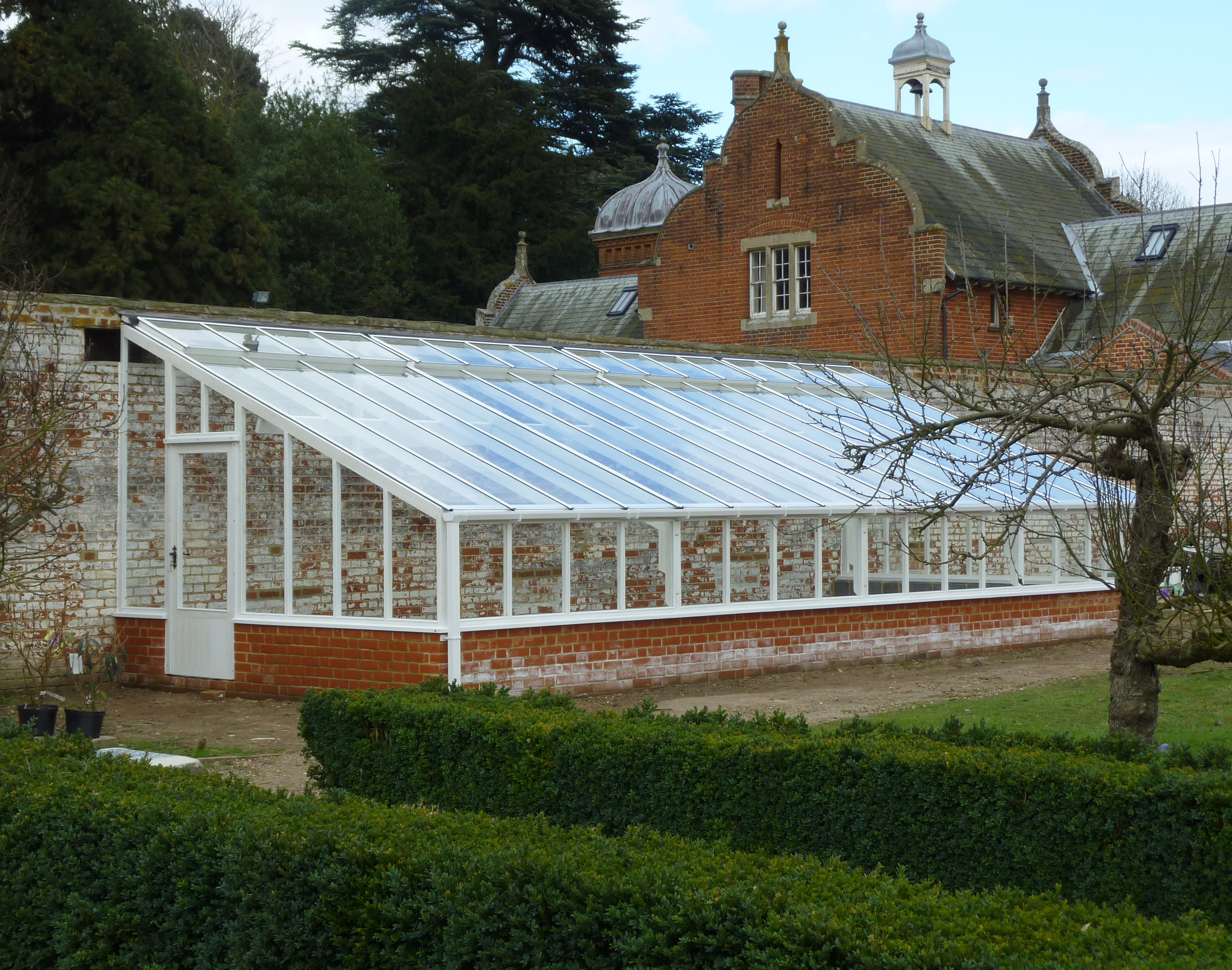 White Painted Cedar Greenhouse