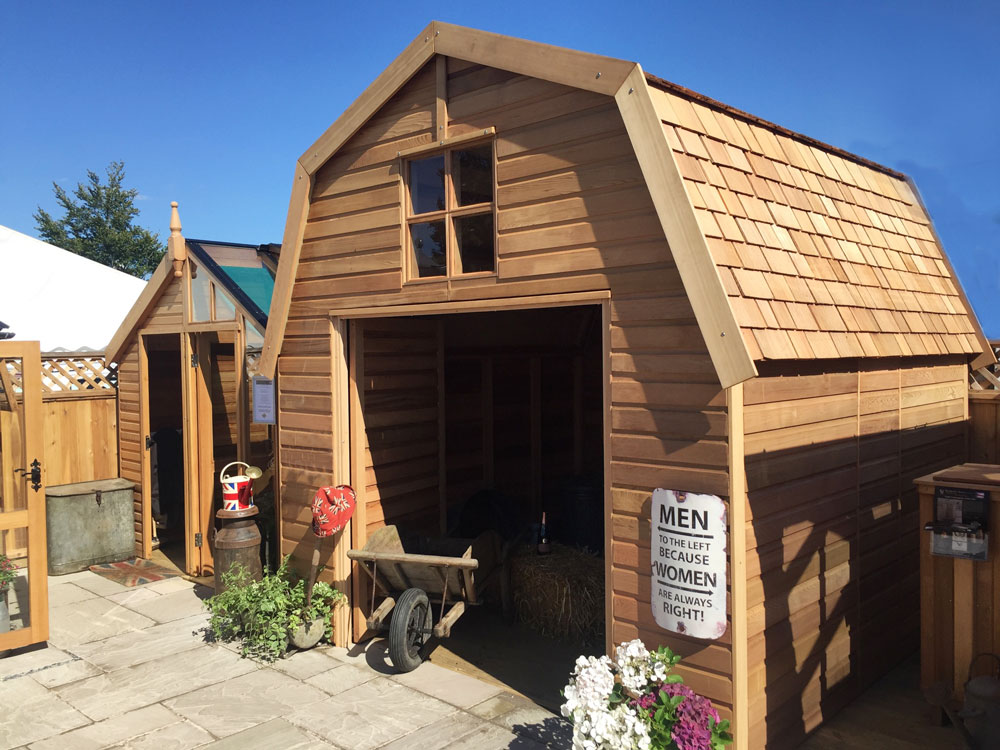 Cedar Timber Barn Outbuilding