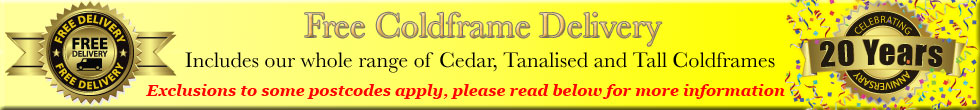 Coldframe Free Delivery