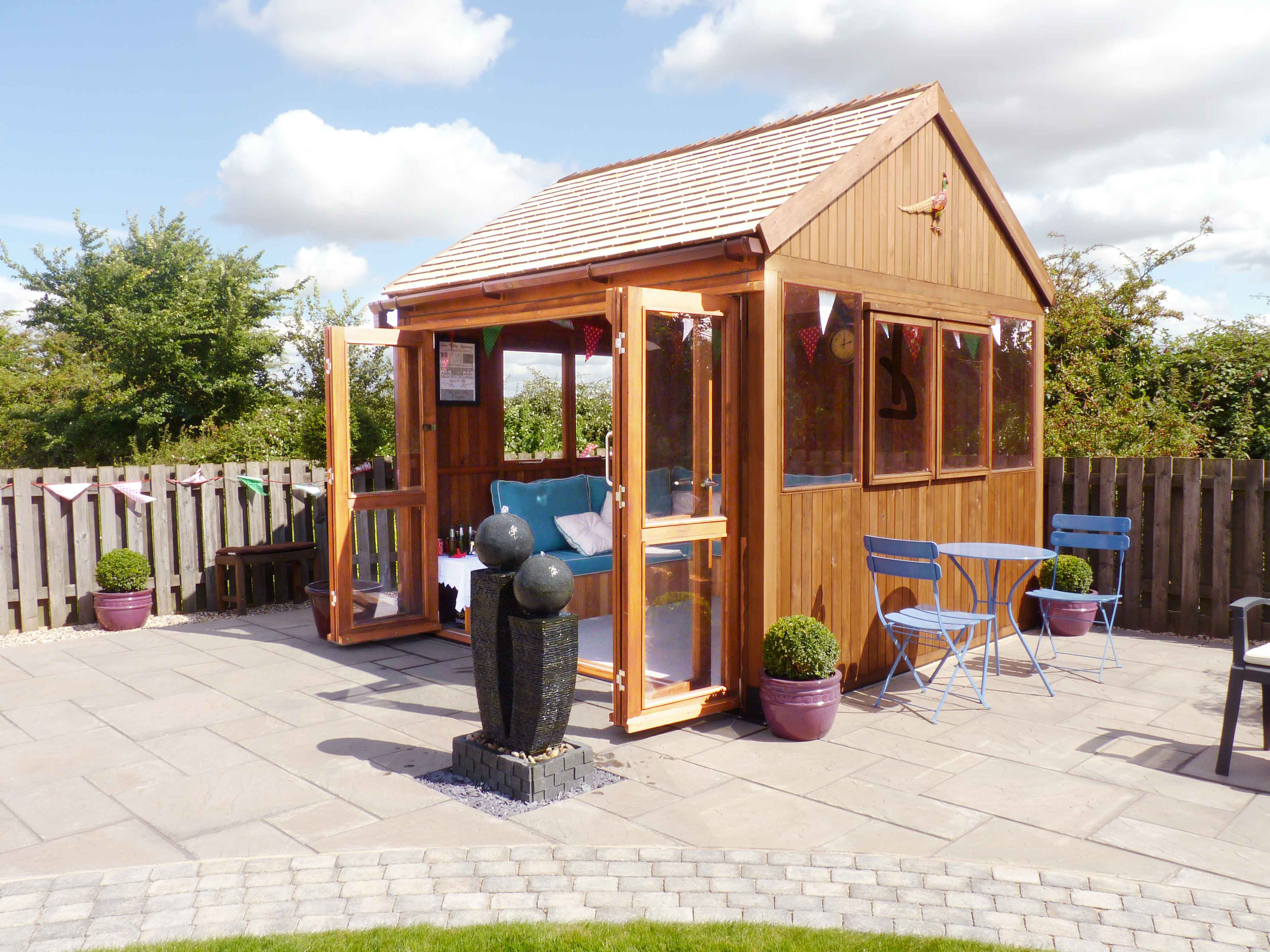 Traditional Cedar Summerhouse installed and delivered