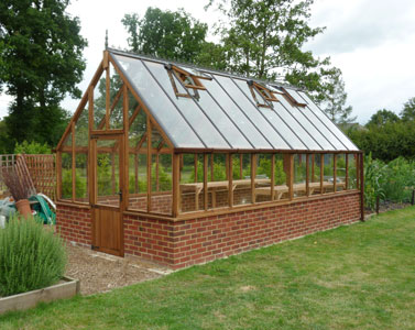 Bespoke cedar timber greenhouses