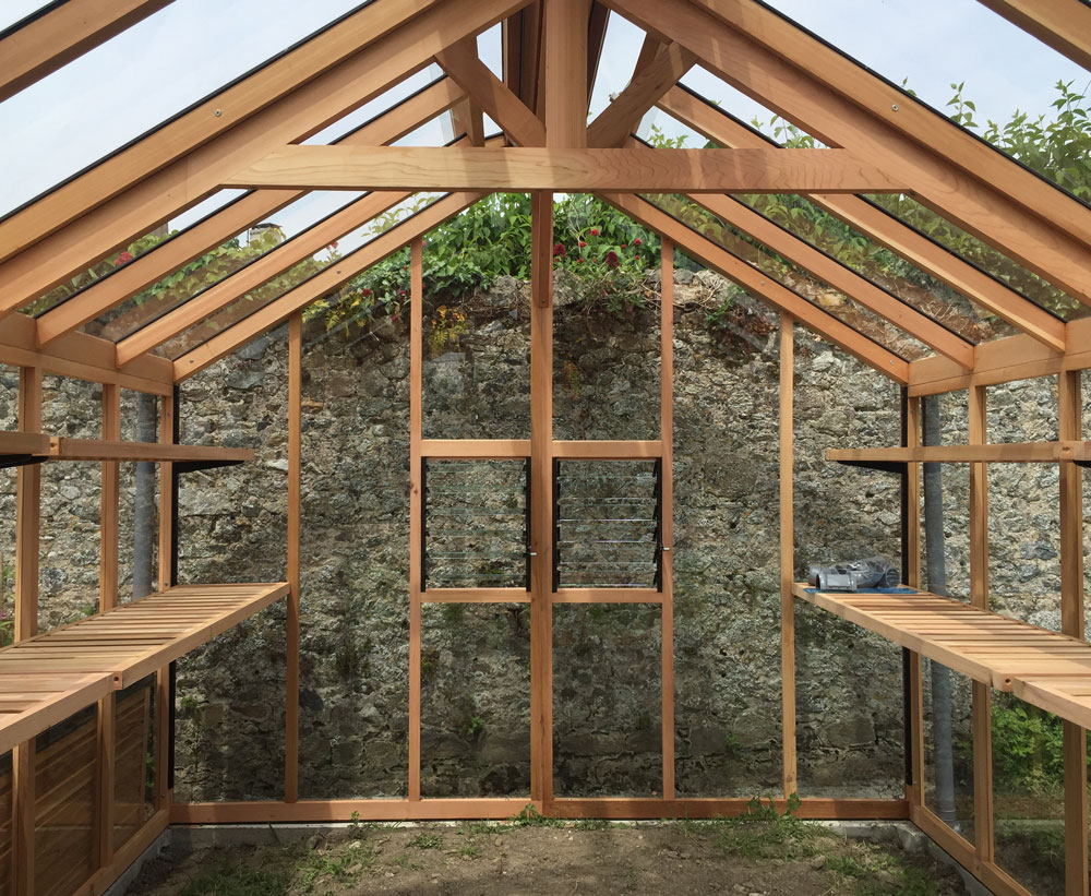 Chartley Greenhouse timber frame