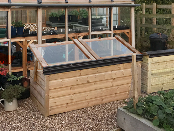 Tanalised Softwood Coldframe with strong hinge
