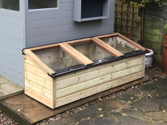 Tanalised Softwood Coldframe with unique handles