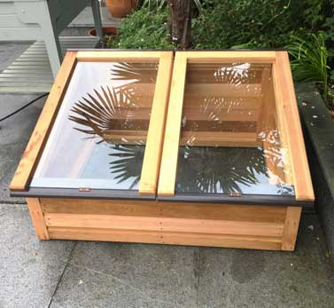 Wooden Coldframe with toughened Glass