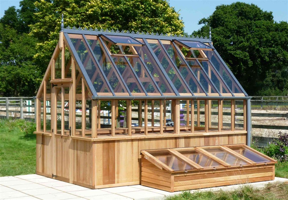 Western Red Cedar Timber Greenhouse