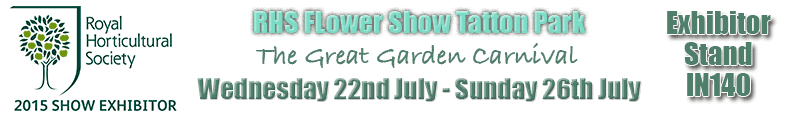 RHS Flower Show Tatton Park Greenhouse Exhibitor