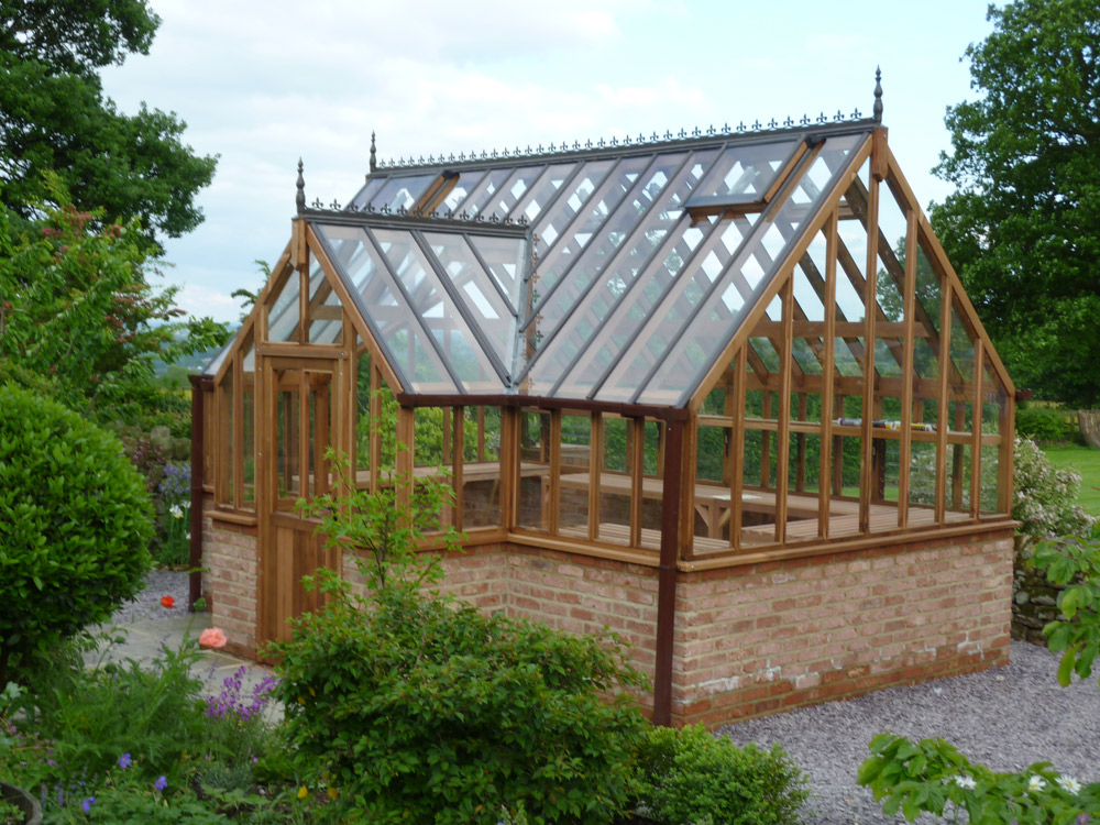 Cedar Greenhouse with Porch