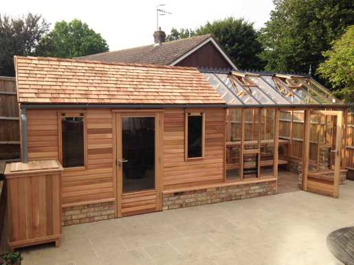 Shed Combo Greenhouses Built In Western Red Cedar Shingle