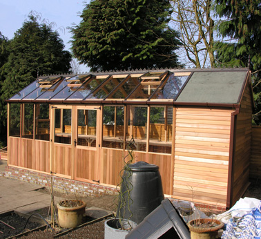 Shed combo greenhouse