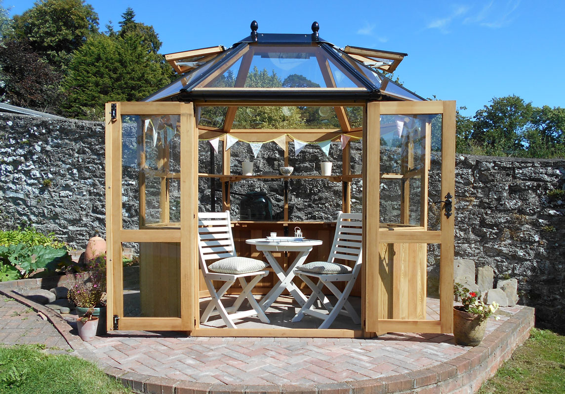 Stramshall greenhouse used as a summerhouse