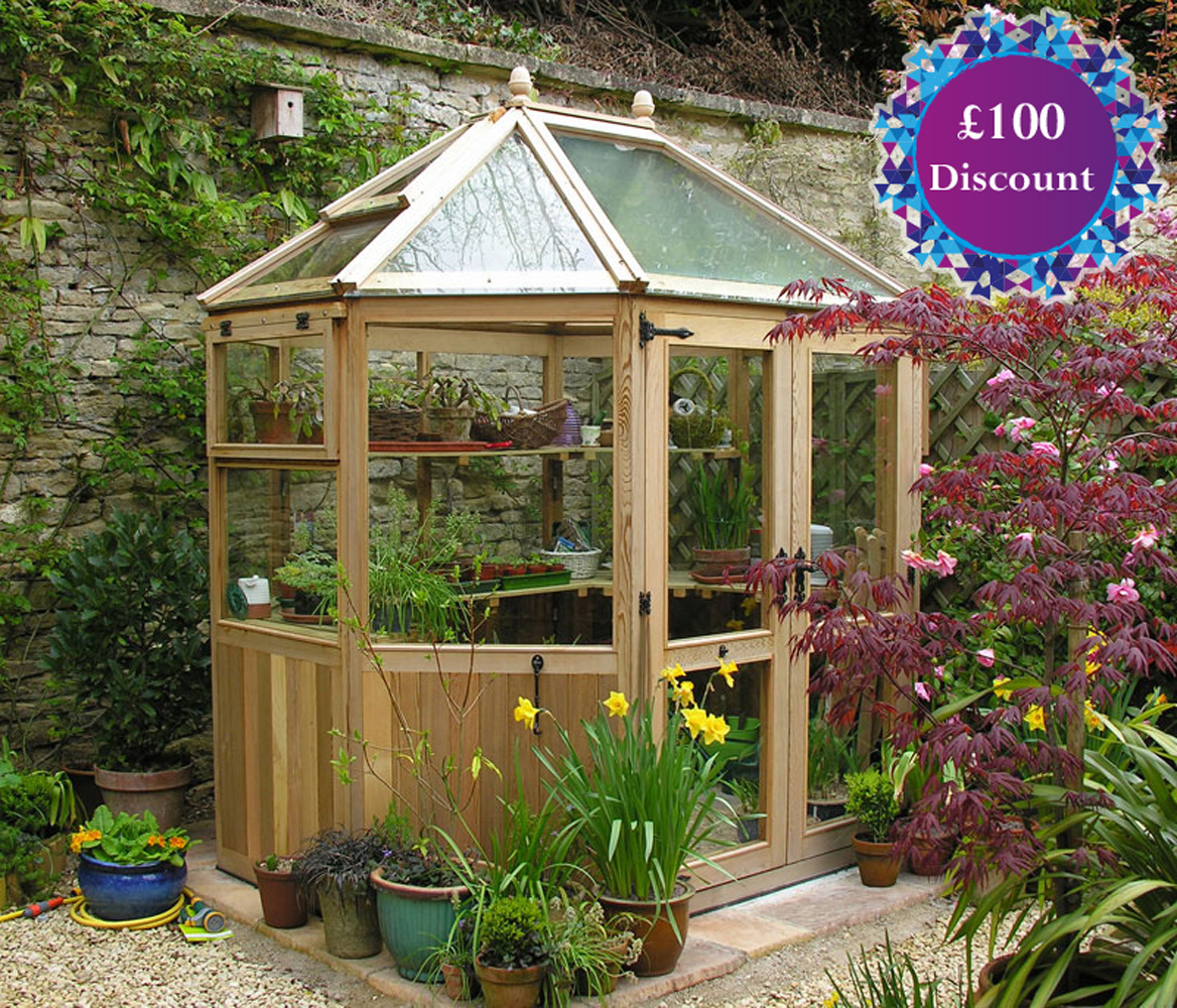 Stramshall Western Red Cedar Greenhouse  6ft4