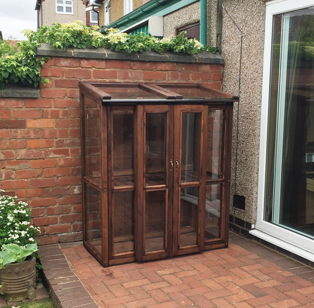 Wooden Tall Cold frame Dark Brown