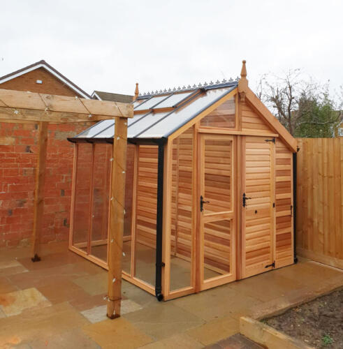 8ft-x-8ft-Centaur-shed-combo-greenhouse